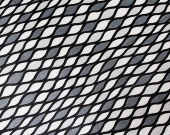 50s Gray & Black Fabric - 5 Yards x 40 Inches - Harlequin Mid Century Rayon Print - Summer Weight 1950s Dress or Lining Yardage - 49790