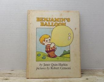 Benjamins Balloon, 1978, Janet Quin Harkin, Robert Censoni, vintage kids book