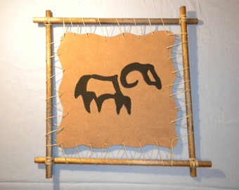 Zodiac Aries Primitive Abstract Astrology Astrological Wall Art Hanging