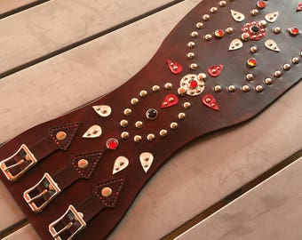 Kidney studded belt - biker belt