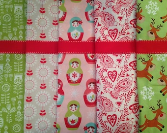 Made to Order - Design Your Own Set of Scandinavian Christmas Stockings in Red, Green and Pink