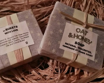 Natural soap of oats and Honey