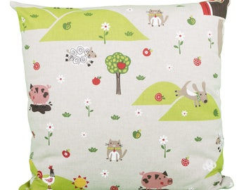 Pillow Square farmer landscape children animals