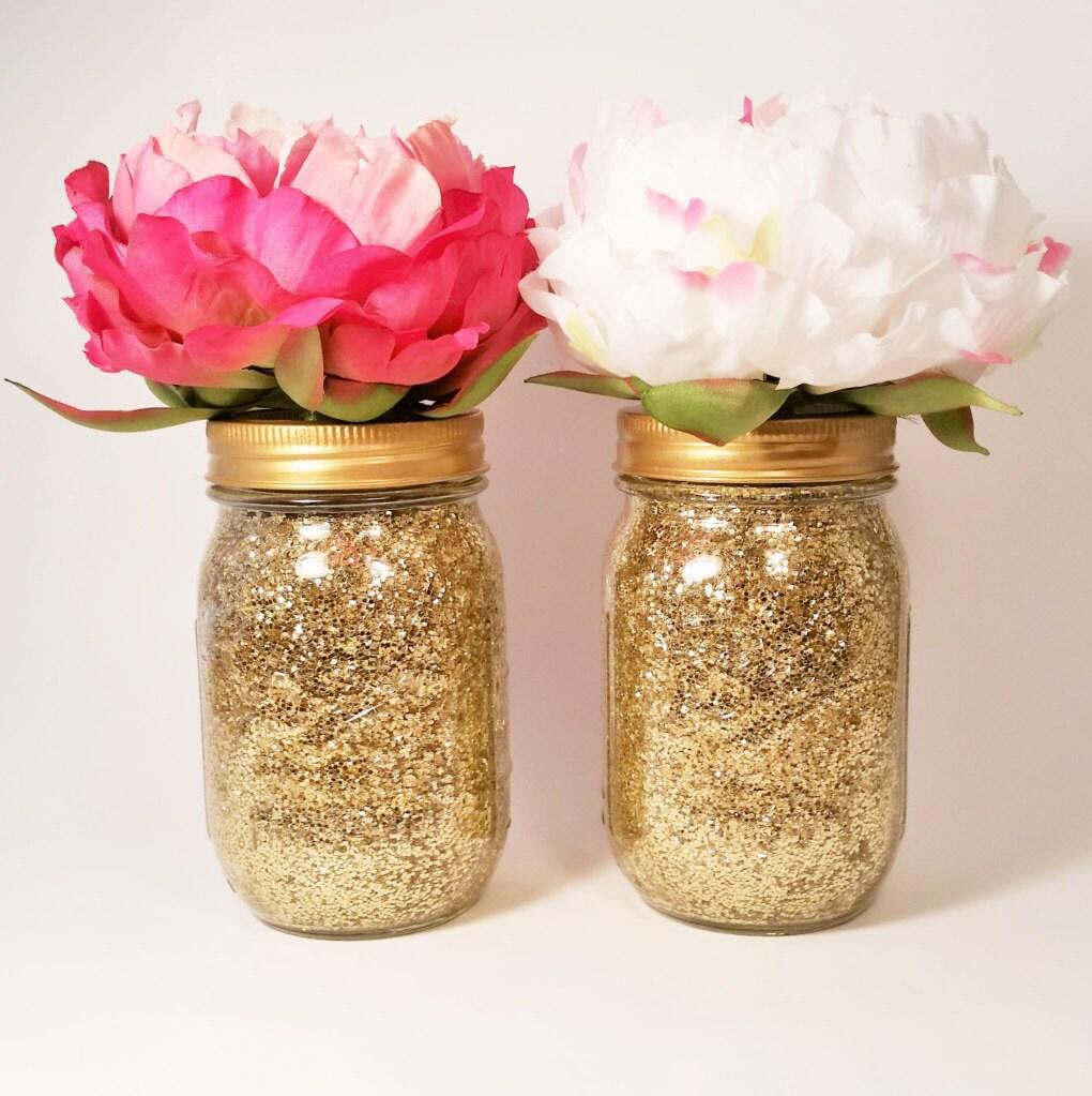 Wedding Flowers In Mason Jars: Mason Jar Centerpiece Bridal Shower Decorations Wedding