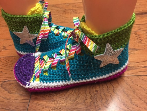 Womens sneaker high top rainbow top rainbow converse inspired shoes tennis slippers 7 Converse slippers converse 9 slippers high slippers wfqa4xX7