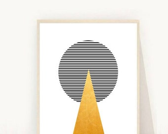 Mid Century Print, Printable Art, Geometric Art Print, Geometric Wall Art, Mid Century Modern,  Instant Download, Home Decor, Wall Decor