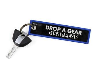 Drop A Gear & Disappear Key Tags by KeyTails Bmw S1000 rr Ducati Ktm gsxr cbr Ninja Yamaha Honda Kawasaki Suzuki Motorcycle Keyring Keychain
