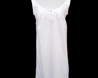 1800's Civil War Victorian White Chemise with Lace and Ribbon . CUSTOM SIZE COLOR