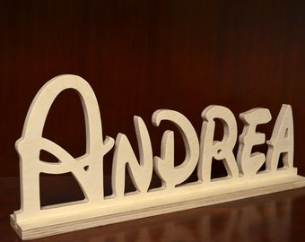 Wooden name sign Baby Name Plaque Personalized wooden names, Disney font, Custom Nursery Wall Decor