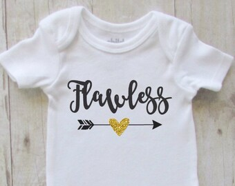 Baby Shirt Baby Girl Clothes Flawless Glitter Baby
