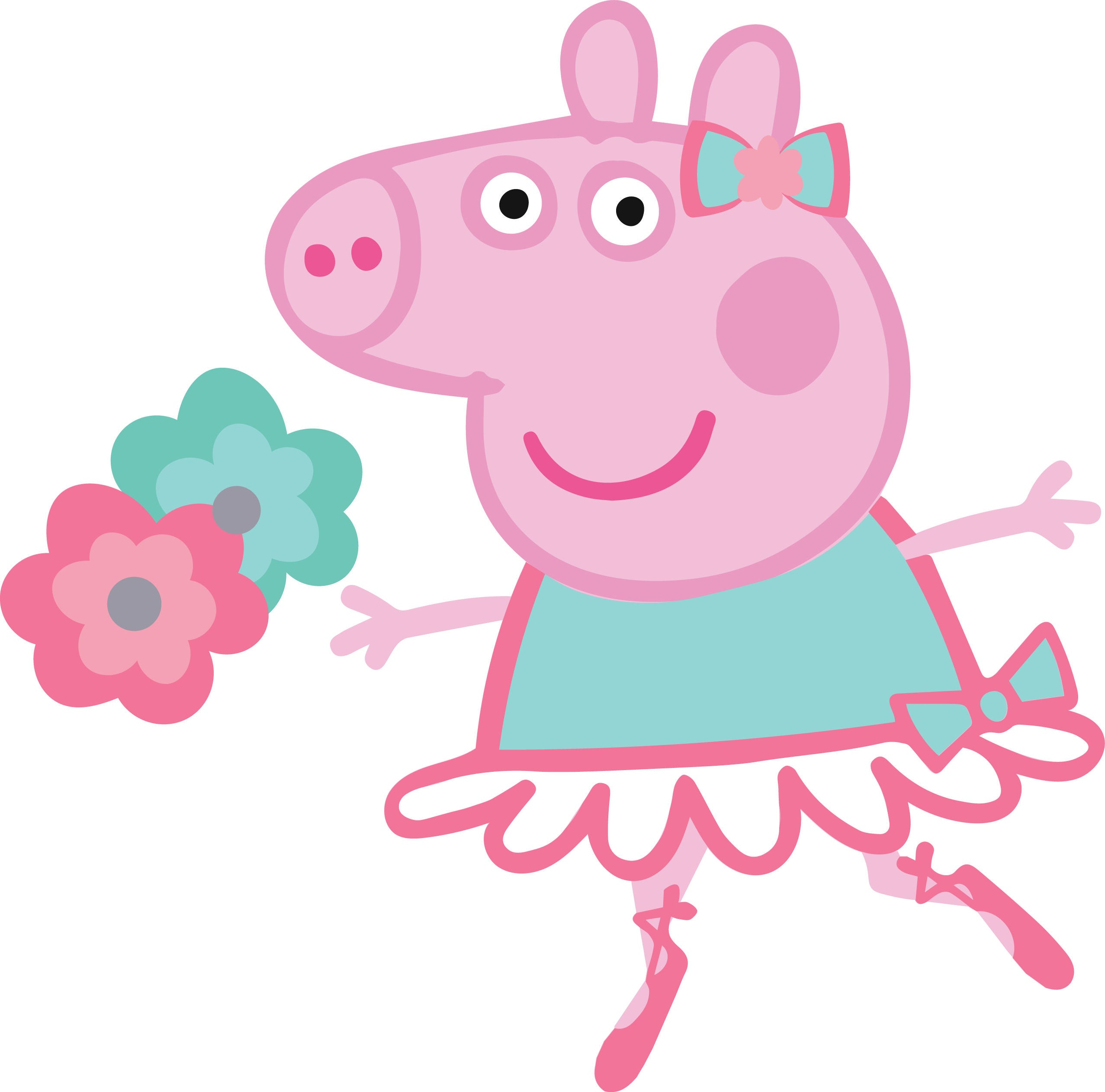 Peppa pig ballerina high quality s for cutting and printing zoom voltagebd Images