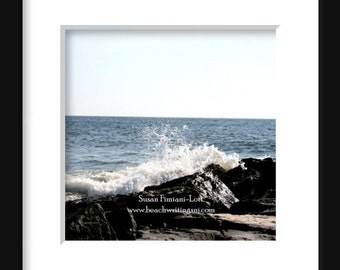 Waves Crashing on a Jetty Ocean Jetty Bay Head, NJ Jersey Shore 5x7 8x10