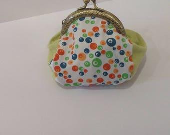 Vintage lime green bubble purse