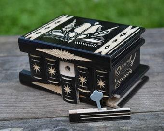 Keepsake box, Mystery box Wooden Secret box Hidden compartment box, Puzzle box, Brain teaser Hand carved box Trinket box Funny birthday gift