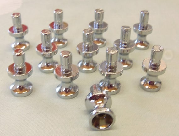 Diy Knob Bases Stems Set Of  Nickel Make Your Own Drawer Pulls