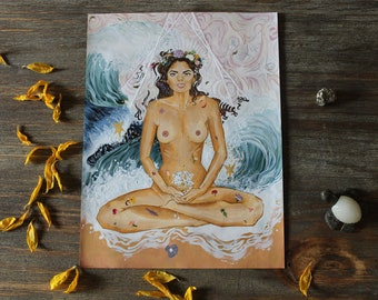 Weightless Space-Gold embellished print