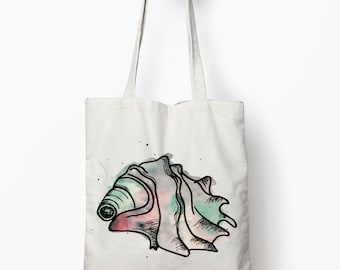 Sea Shell tote bag, Beach bag, Nautical tote