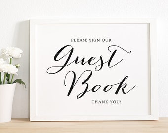 Wedding Guest Book sign, printable Guest book sign, wedding signs, wedding printable, Guest Book table sign, 8x10, Sweet Bomb.
