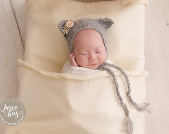Newborn girl hat - Baby girl hat - Photo prop hat - Baby hat - Photo props - Newborn cat - Baby girl- Baby props - Photography prop - Props