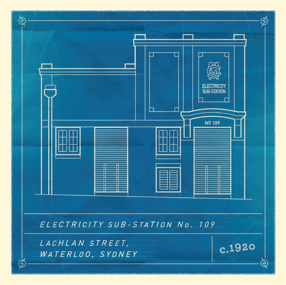 Waterloo sydney substation blueprint blank card malvernweather Image collections