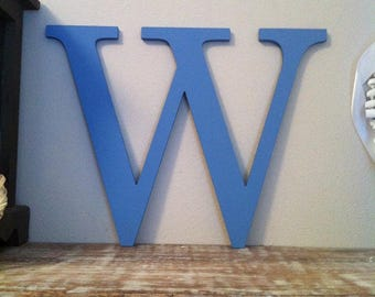 Giant Wooden Letter - W - Times Roman Font, 50cm high, 20 inch, any colour, wall letter, wall decor - various colours & finishes