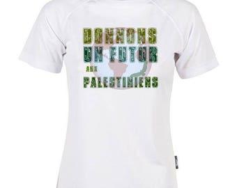 "Mixed T-shirt ""Give a future Palestinian"". Solidarity Palestine Gaza - women men T-shirt"