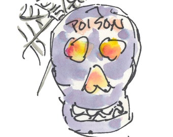 """HALLOWEEN7...Clipart / Digital Download / 300 dpi/ hi resolution of Original Watercolor . 8""""x10"""" Great for any application."""