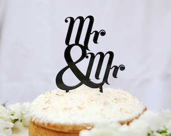 Mr and Mr Cake Topper | Mr & Mr Topper | Acrylic Wedding Cake Topper | Gay Perspex Topper | Plastic Wedding Topper | Acrylic Cake Topper