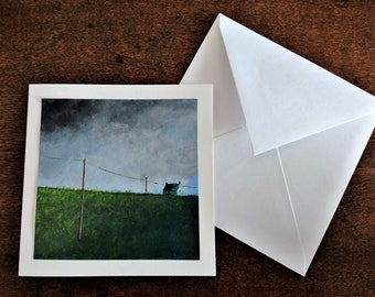 Hand Painted Greeting Card. Images of Scotland.