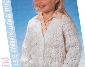 girls  cardigan  knitting pattern 99p pdf