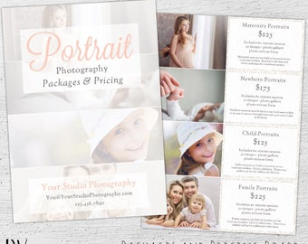 Photography Price List, Photoshop Template, Marketing, Price Sheet, Photography Pricing Template, Photographer, Pricing Guide - 01-008