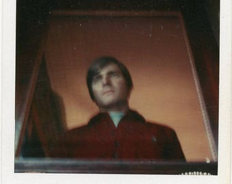 Original 1970s Polaroid Instant Photograph of a Selfie photo Young Man ~ B313 USA