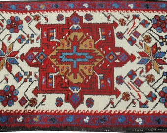 Small handmade authentic Persian carpet wool size 87cmx60cm.