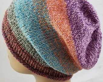 Rainbow Slouchy Hat - Boho Slouchy Hat - Hipster Beanie - Hipster Hat - Gifts for Mommy - Teen Slouchy Hat - Easter Hat - Slouchy Beanie