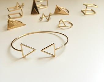 SunJewel Gold Cuff Bracelet, Triangle Cuff Bracelet, Jewelry Gifts, Unique Friendship Gifts, Friendship Jewelry, Bracelets For Women