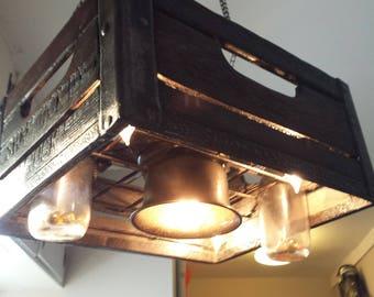 Vintage Milk crate lamp