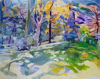Hawk's Nest, Original Watercolor Landscape, Digital Print
