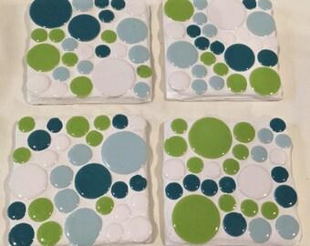 Mosaic Coasters, garden accent, home decor