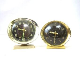 Vintage Alarm Clocks for Parts Mid Century Westclox Baby Ben Clocks AS IS