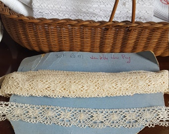 Vintage French Handmade Crochet Lace Trim - 12.5 metres