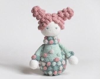 Crochet Doll Toy, Gemma Doll, Baby Girl Gift, Handmade Baby Toy, Nursery Decor.
