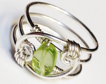 Peridot Ring, Peridot Gemstone Ring, Natural Peridot Ring, Peridot Jewelry, August Birthstone  August Birthday, Green Peridot Ring