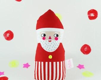 Santa Rattle Soft Toy