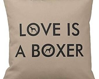 Boxer Dog Breed Pillowcase 18x18