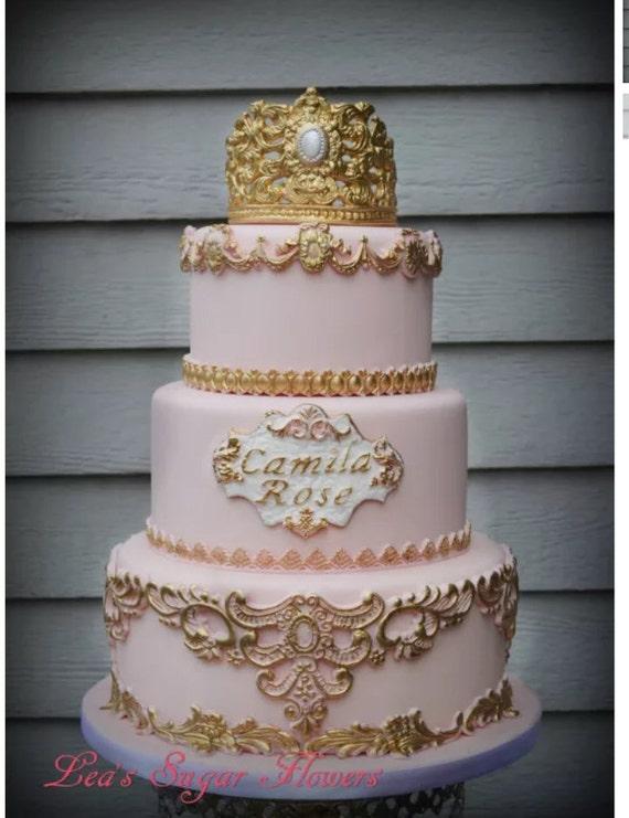 3 tier Princess Fake Cake Covered with Fondant Cake Dummy Photo