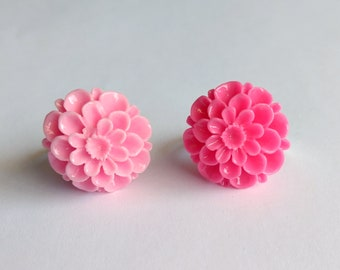 Pink Chrysanthemum Adjustable Rings - Kawaii Jewelry Fairy Kei Jewelry Pop Kei Jewelry Decora Jewelry Harajuku Fashion Tokyo Fashion