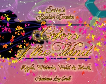 Colors of the wind-Apple, Wisteria, Violet & Musk-Bookish Candle