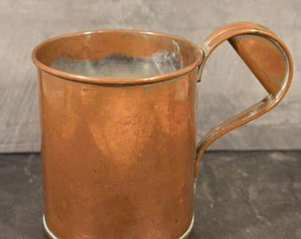 Large copper serving tumbler