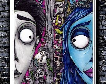 We're Going To Have A Wedding - A5/A4/A3 Signed Art Print (Inspired by Corpse Bride)