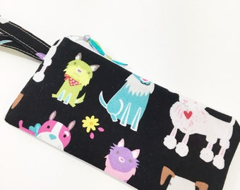 Dog Lovers  Zippered Pouch~ Sunglasses Pouch ~ Free Shipping in US